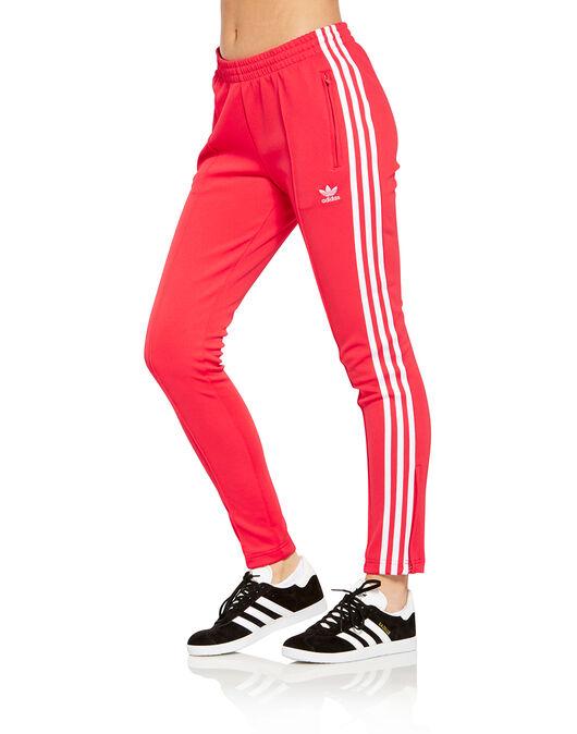 Women s Red adidas Originals Superstar Track pants  484553603
