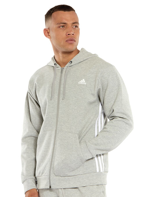Mens 3-Stripes Full Zip Hoodie