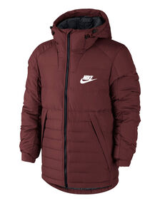 Mens Down Filled Hooded Jacket