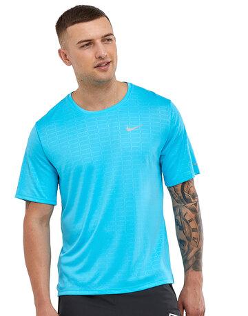 Mens Run DVN Miler Emboss T-shirt