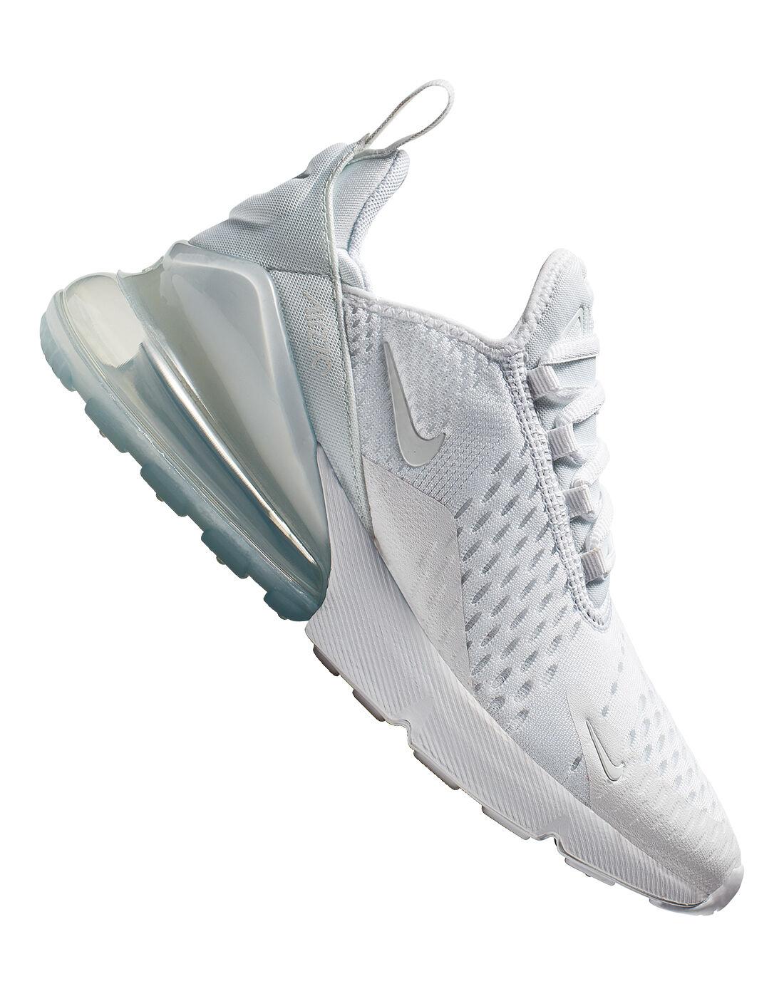 Kid's Triple White Nike Air Max 270