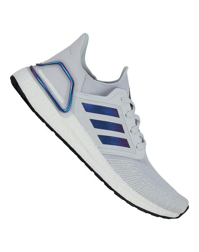 Adidas Mens Ultraboost 20 Football Boots - Grey - 8