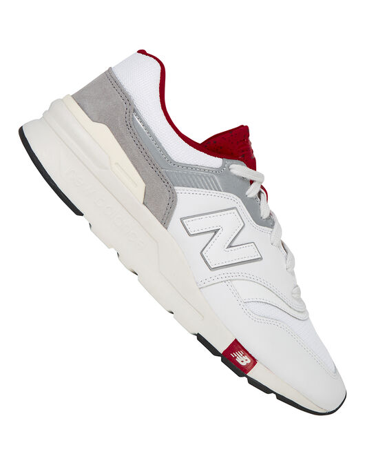 24905b0ee0ab5 Men's White & Maroon New Balance 997 Trainer | Life Style Sports