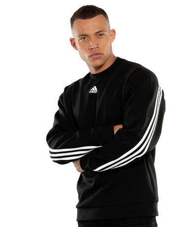 Mens 3-Stripes Crew Sweatshirt