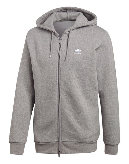 68610359 Men's Grey adidas Originals Full Zip Hoody | Life Style Sports