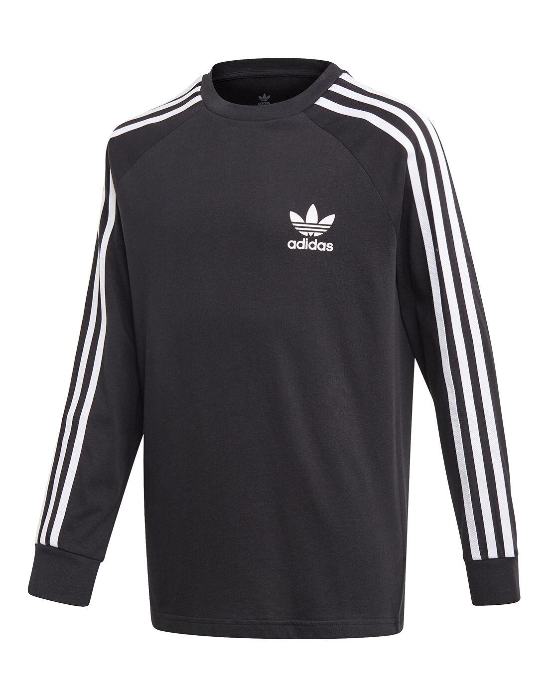 adidas Originals Older Kids 3-Stripes T-shirt - Black | finish ...