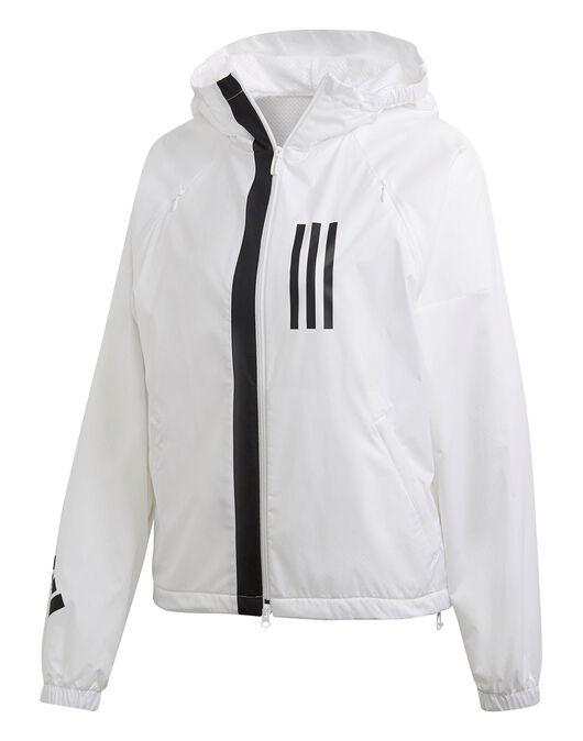 59425892334e3 Women's White adidas WND Jacket   Life Style Sports