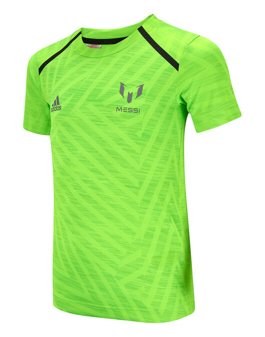 37a1e24bb0 Boy's Green adidas Messi Icon T-Shirt | Life Style Sports