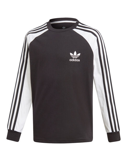 11145b9e5 Kid's Black adidas Originals Calfornia Long Sleeve T-Shirt | Life ...