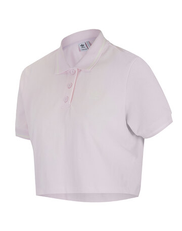 Womens Cropped Polo Top