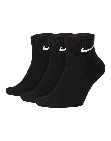 Adult 3 Pack Everyday Cushion Ankle Socks