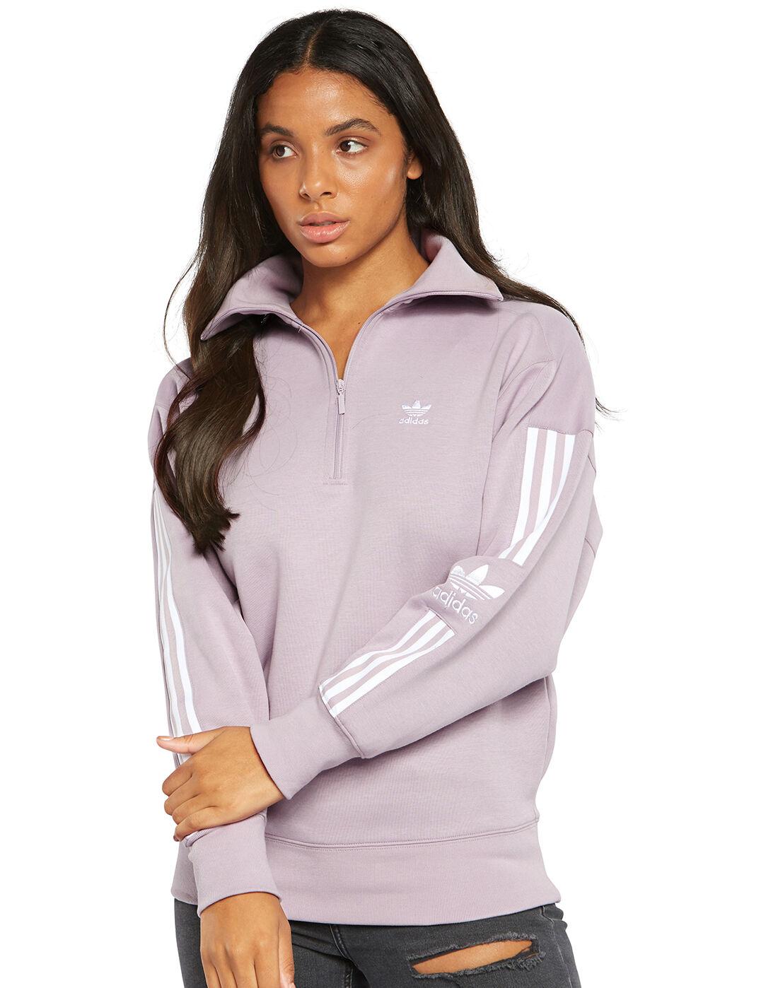adidas Half Zip Sweatshirt Lila   adidas Deutschland