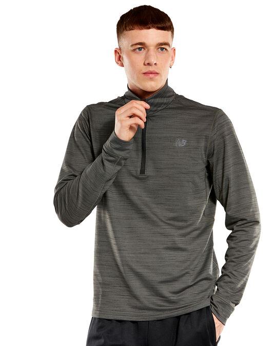 f32dd65d9f4a1 Men's Grey New Balance Anticipate 2.0 Half Zip Top | Life Style Sports