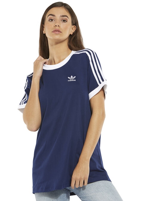 1322a0a1 Women's Navy adidas Originals 3-Stripe T-Shirt | Life Style Sports