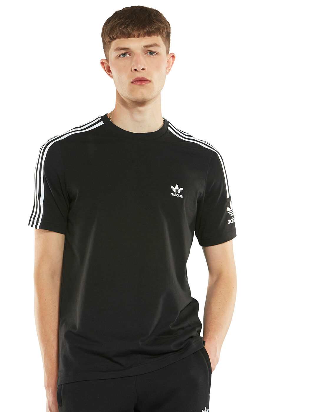 adidas Originals lock up t shirt in black