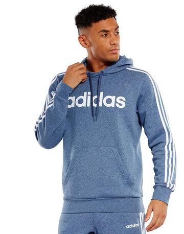 Mens 3-Stripes Pullover Hoodie