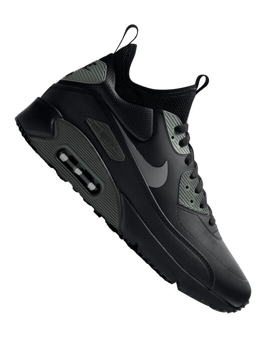 big sale 1d737 41bba Nike Mens Air Max 90 Ultra Mid Winter | Black | Life Style ...