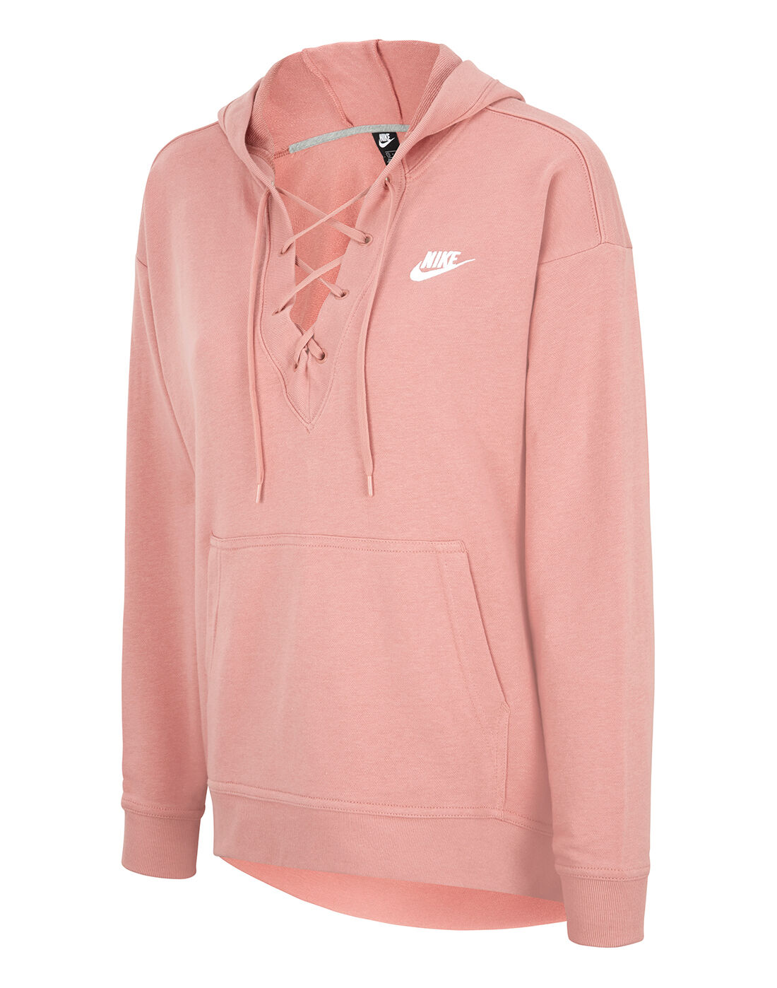 Nike Womens Club Laceup Hoodie | Life Style Sports