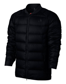 Mens Down Filled Bomber Jacket