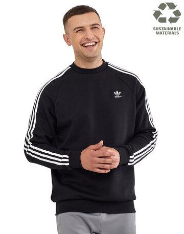 Mens 3 Stripes Crew Neck Sweatshirt