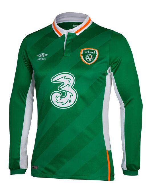 Adult Ireland Home Long Sleeve Jersey
