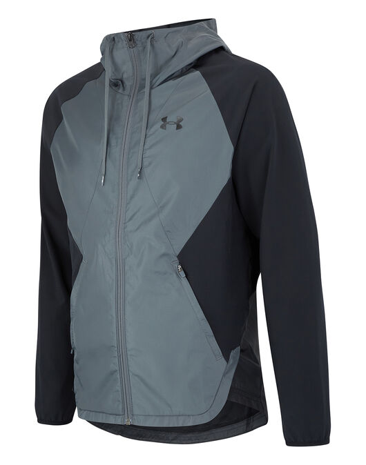 Mens Stretch-Woven Hooded Jacket