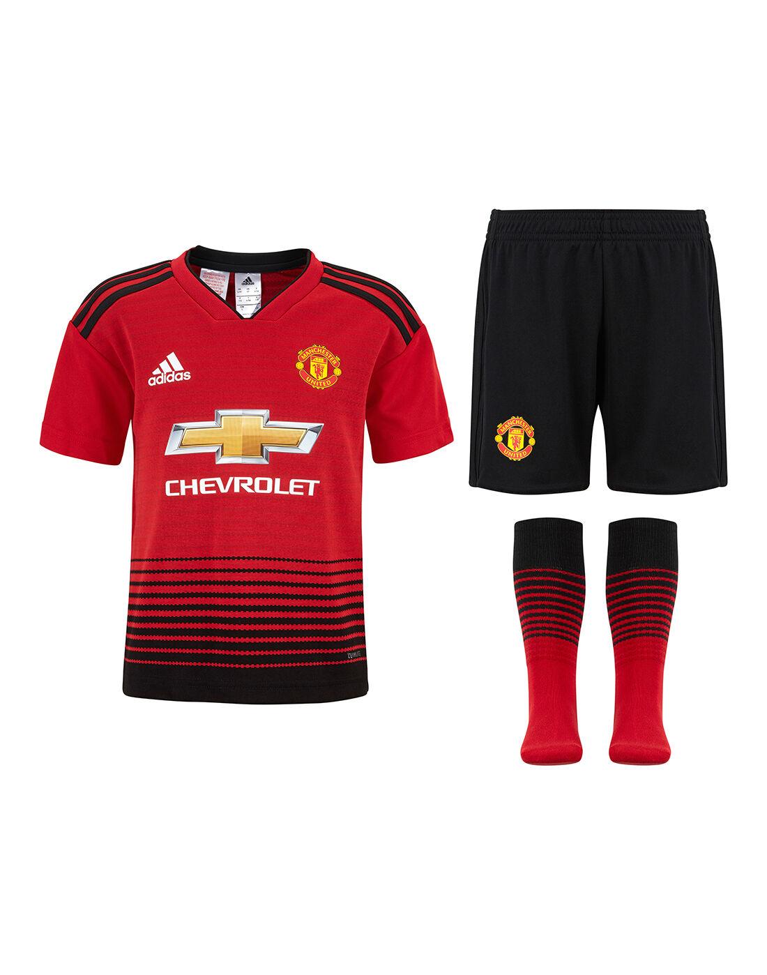 adidas Kids Man Utd 1819 Home Kit