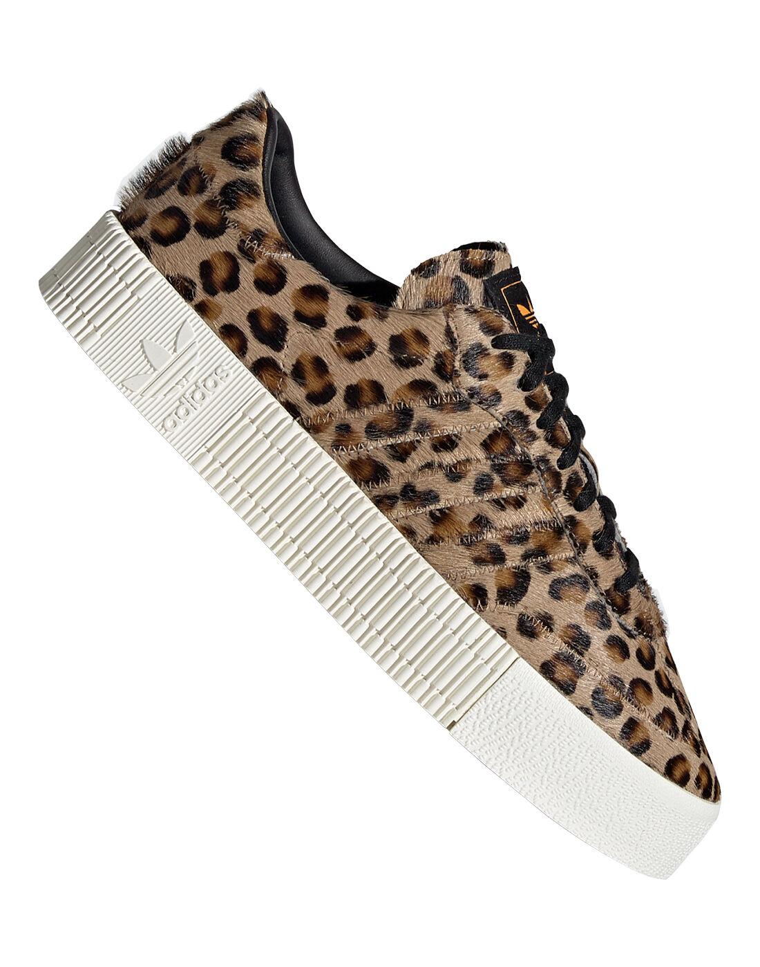 Women's Leopard Print adidas Originals Sambrarose | Life ...