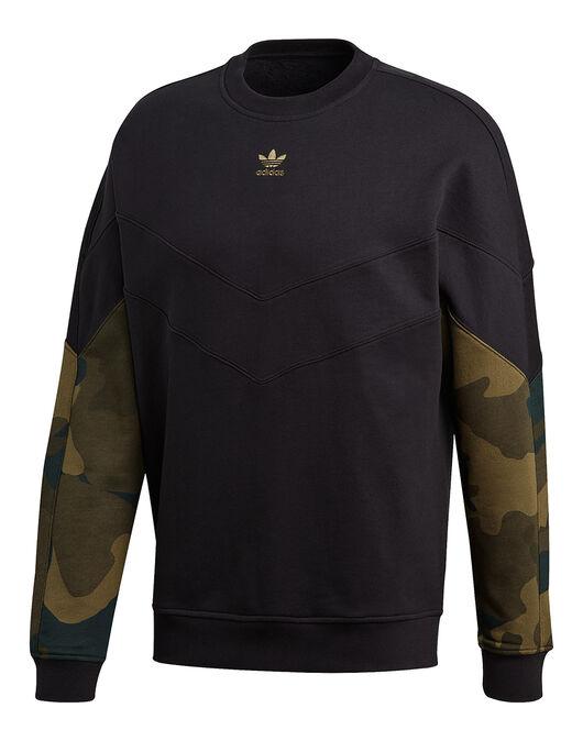 Mens Camo Crew Neck Sweatshirt