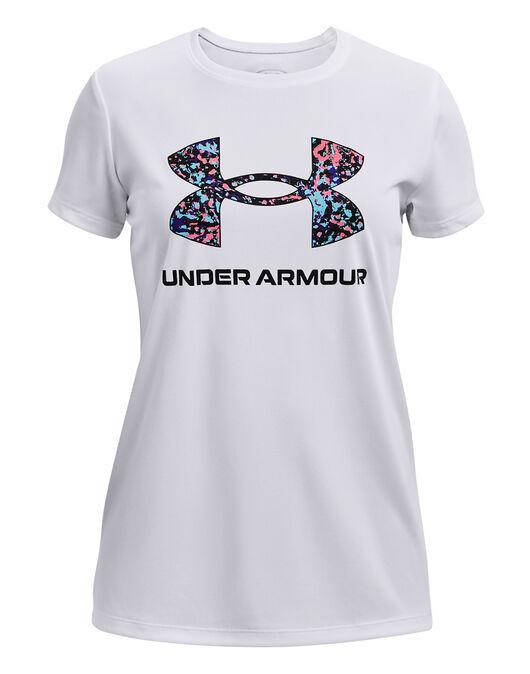 Under Armour Light grey Fuchsia Polyester T-shirts