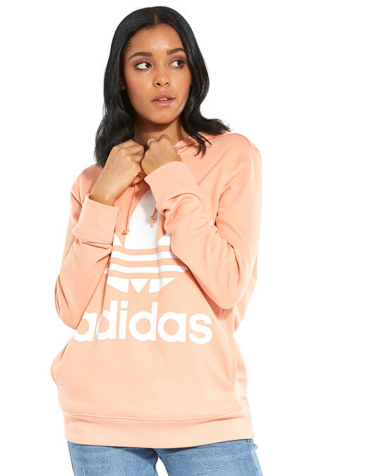 c4fd4e0d173c Women s Pastel Pink adidas Originals Large Logo Hoodie