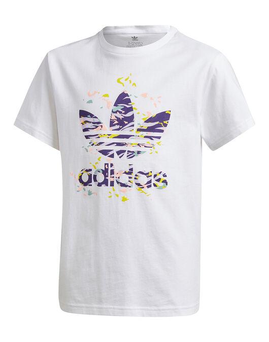 Abuelo Impresionante Automatización  adidas Originals Older Girls Printed Trefoil T-Shirt - White   Life Style  Sports UK