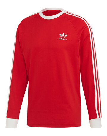 Mens 3-Stripe  Long Sleeve T-Shirt