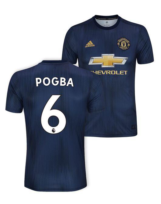 new styles 2cd64 cad27 adidas Kids Man Utd Pogba 3rd Jersey