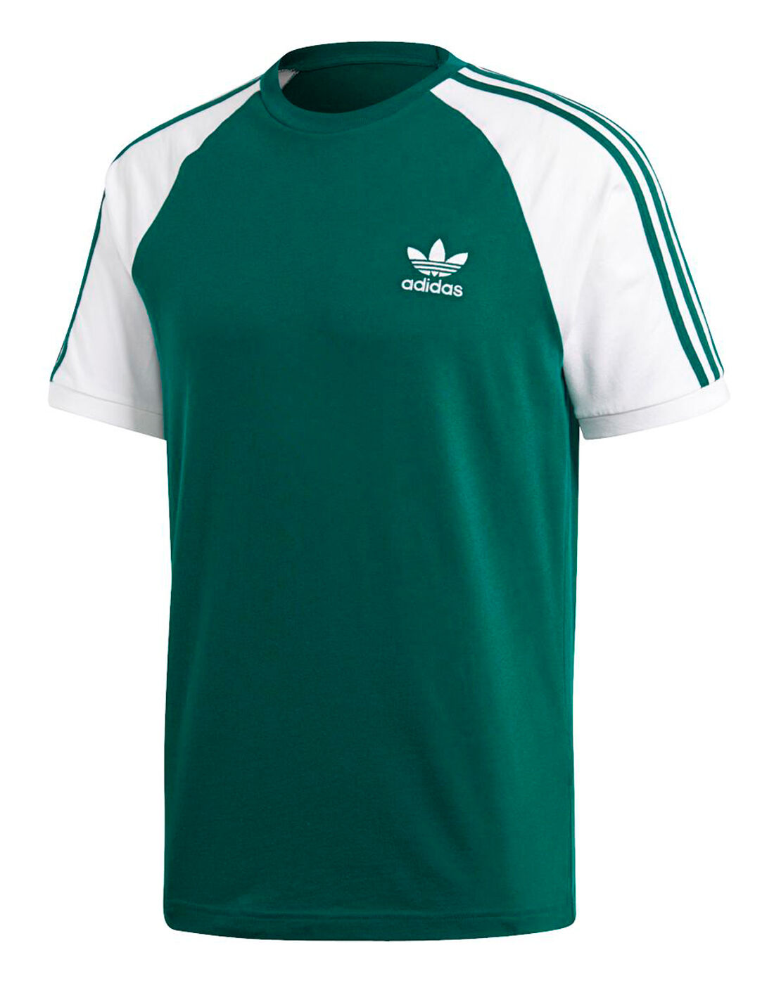 adidas originali mens 3 strisce tee green life style sport