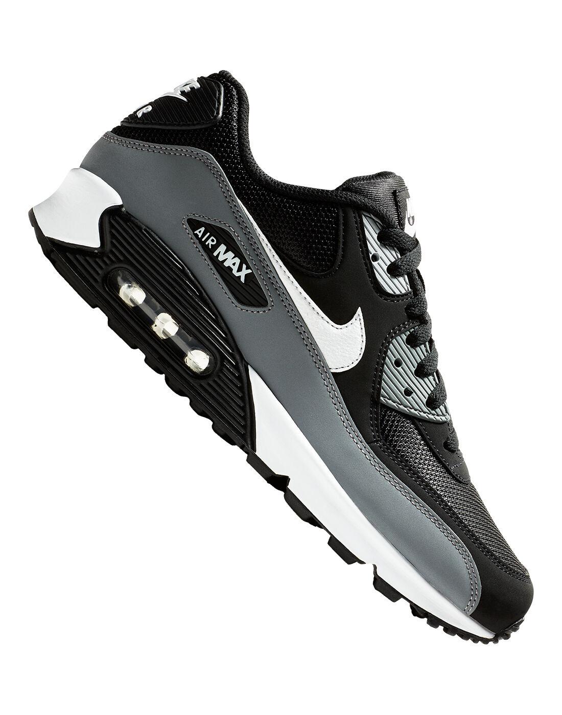 Men's Black & Grey Nike Air Max 90 Essential | Life Style Sports