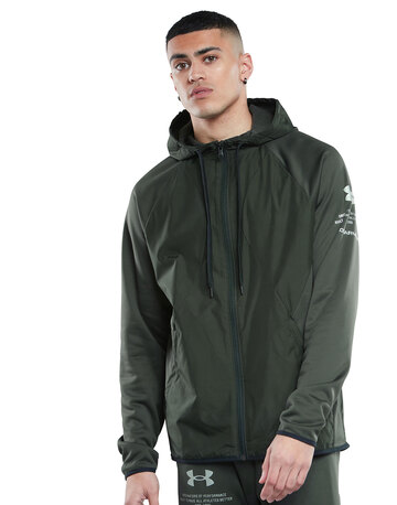 Mens Armour Storm Full Zip Hooded Jacket