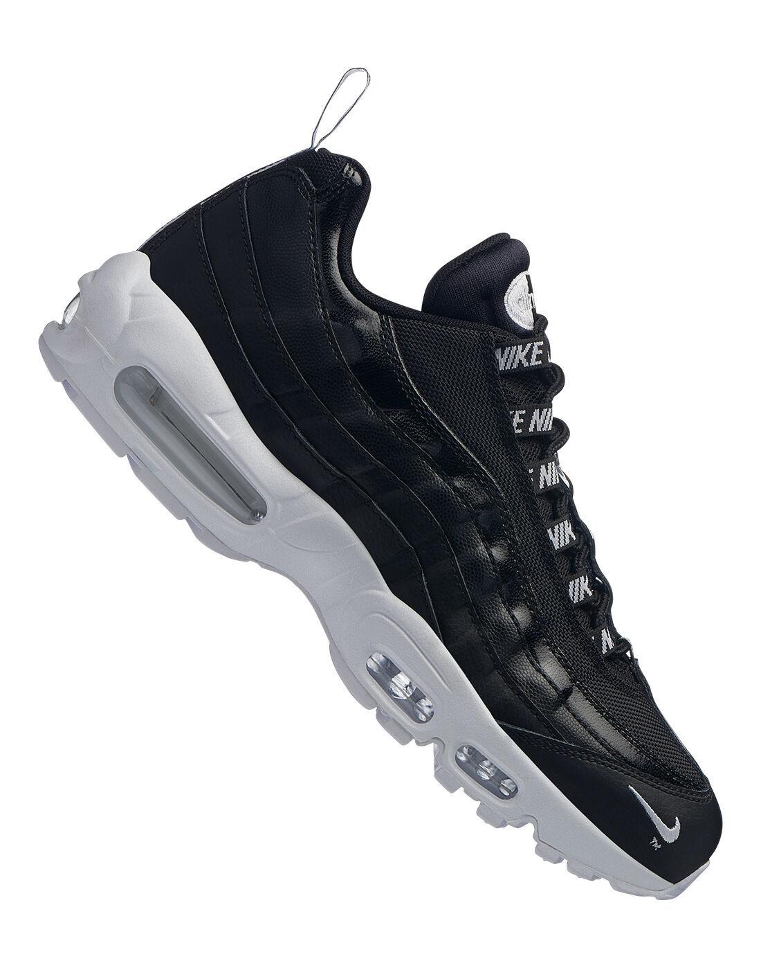 Nike Noir Air Max 95 Premium Homme [BlackBlack Muslin White Running]