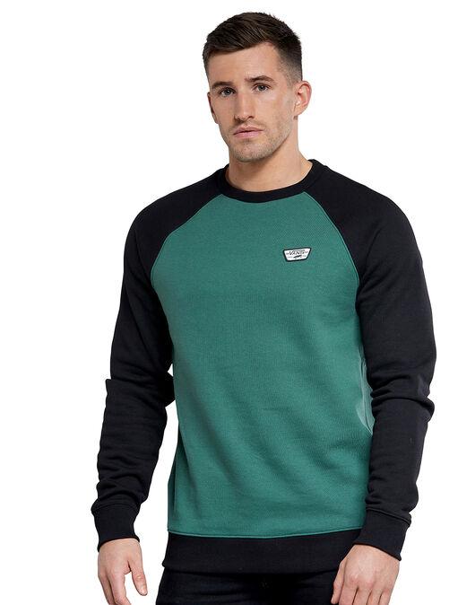 Mens Contrast Crew Neck Sweatshirt
