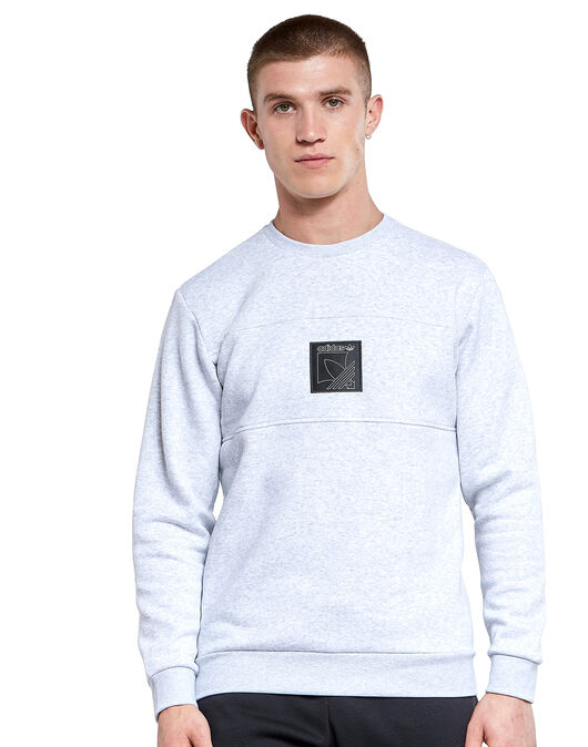 Mens Outline Logo Crew Neck Sweatshirt