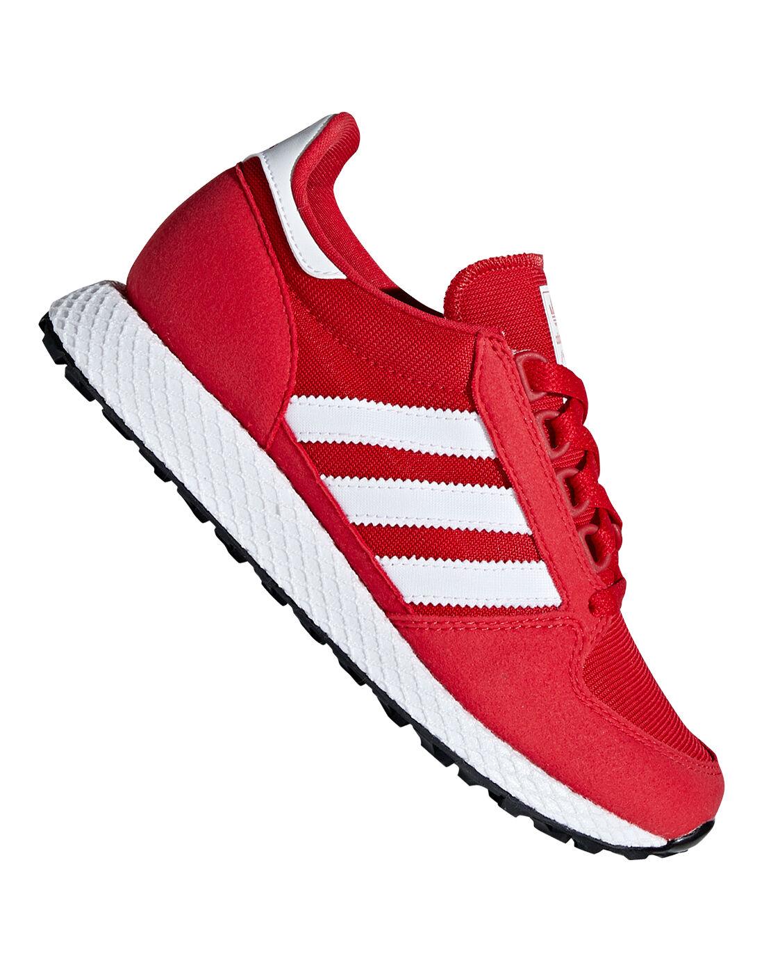 Kid's Red adidas Originals Forest Grove
