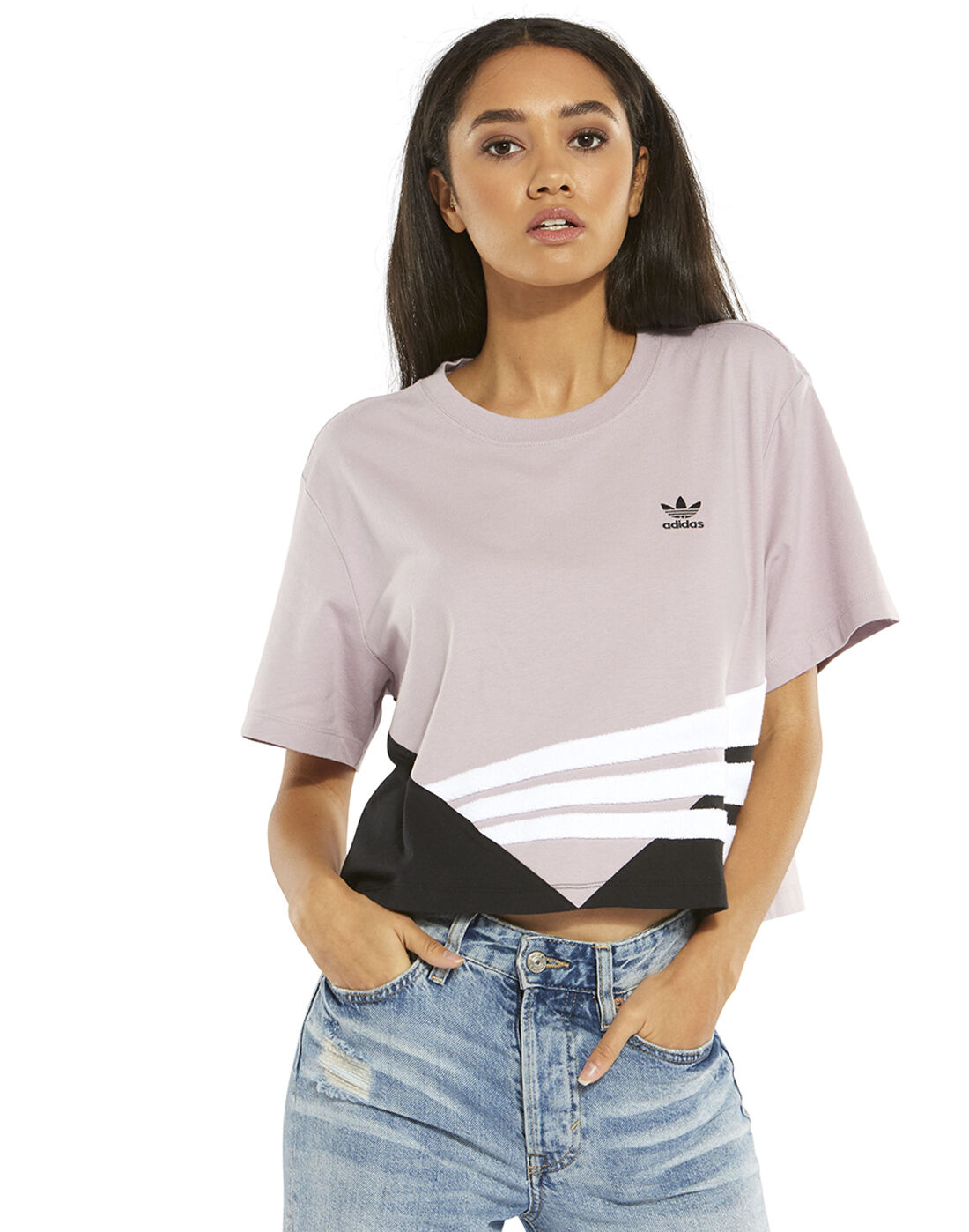 Women's Purple adidas Originals Cropped T Shirt | Life Style