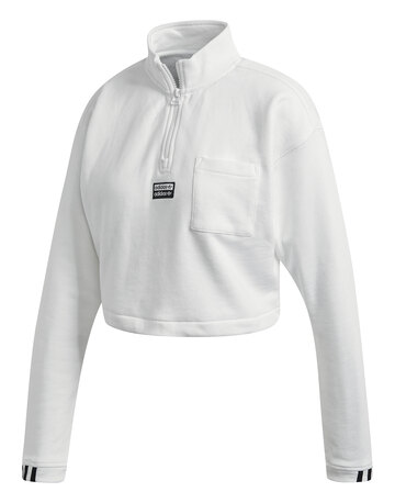Womens Cropped Half Zip Sweatshirt