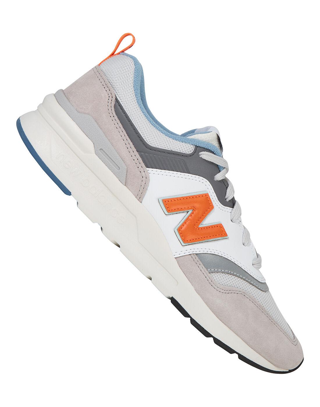 new balance mens orange trainers