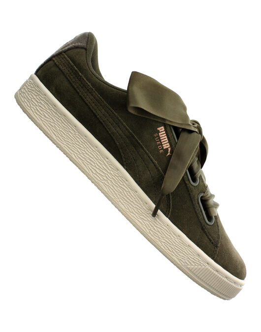sale retailer 13f82 98415 Puma Womens Suede Heart VN | Green | Life Style Sports