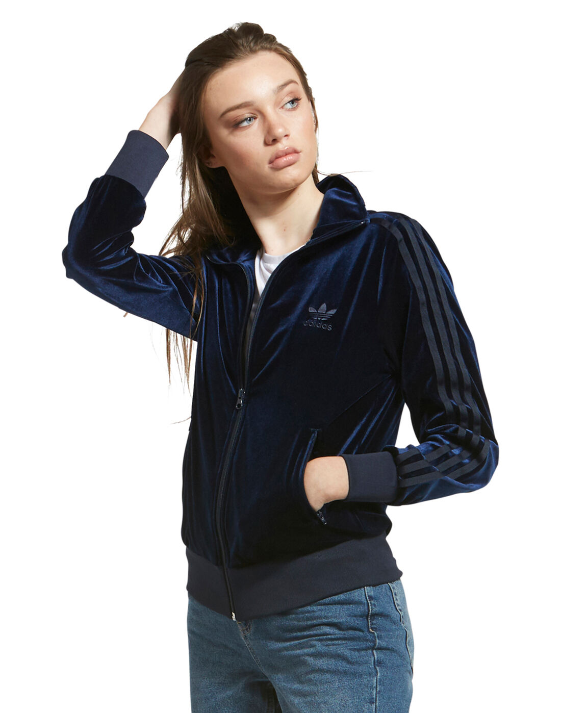adidas Originals Womens Velour Tracktop | Life Style Sports