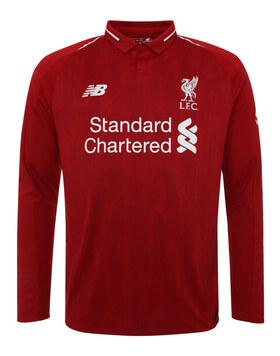 Kids Liverpool 18/19 Home Jersey LS