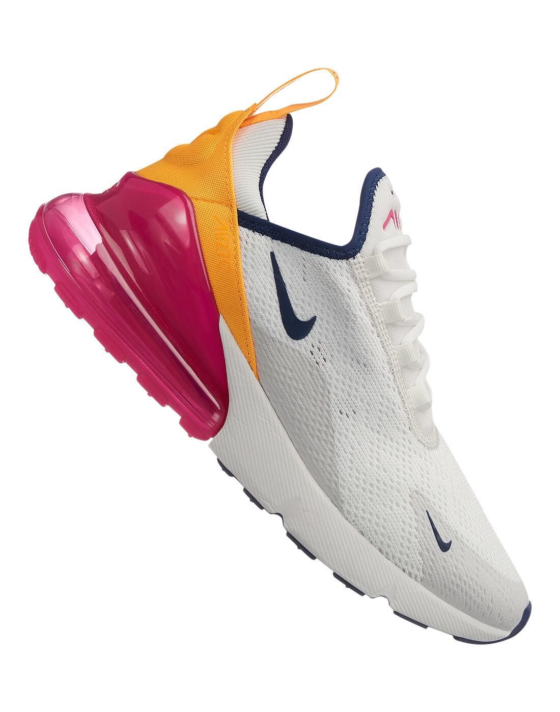 Women's Pink \u0026 White Nike Air Max 270