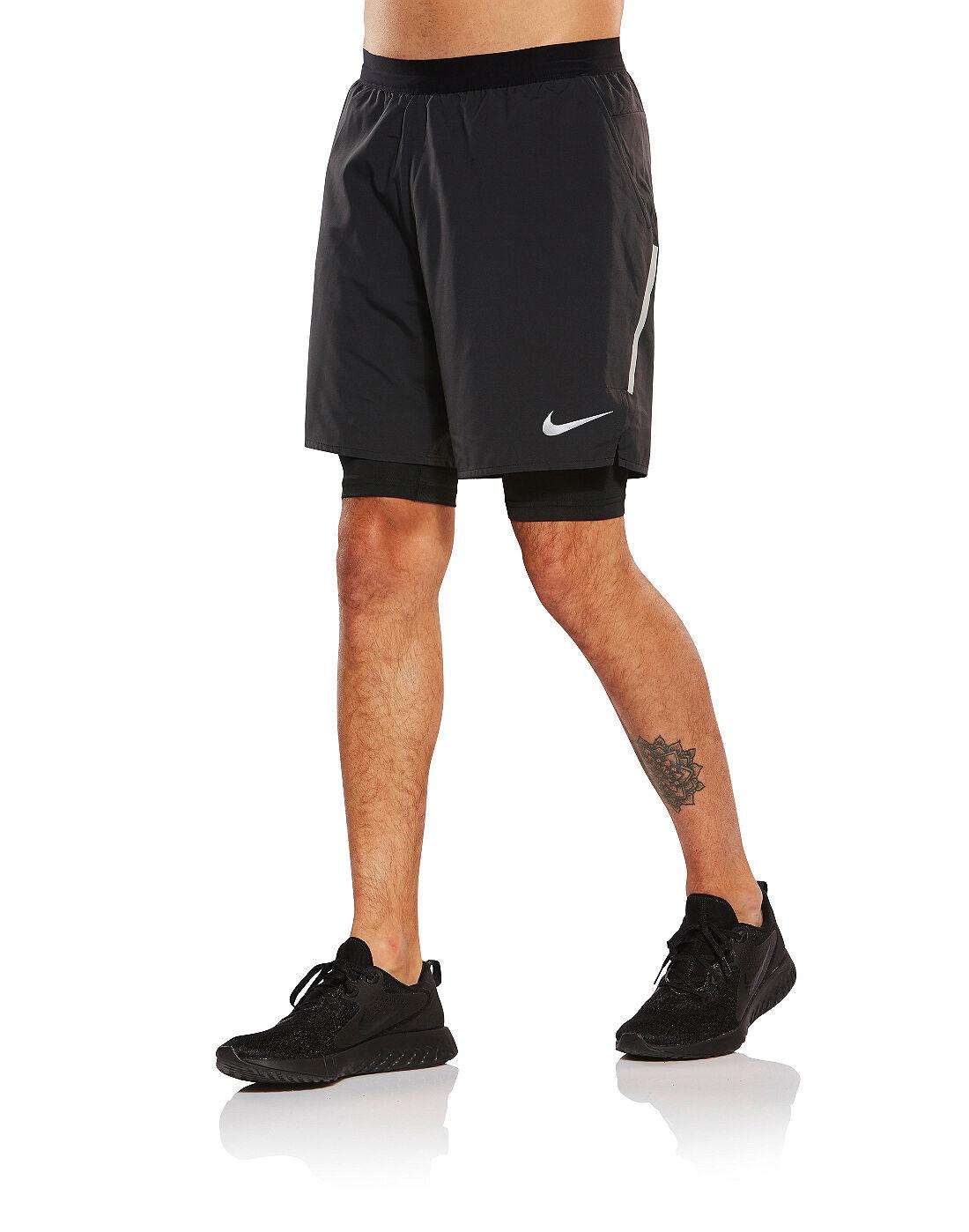 Men's Nike Flex Distance 2 in 1 Shorts   Black   Life Style ...