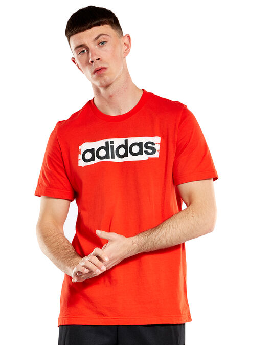 721d3e1a66 Men's Red adidas Linear T-Shirt | Life Style Sports